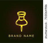 pin golden metallic logo