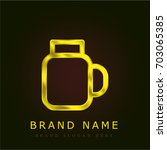 jar golden metallic logo