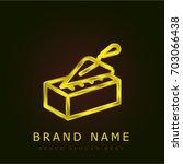 brick golden metallic logo