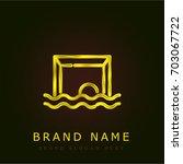 waterpolo golden metallic logo