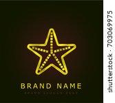 starfish golden metallic logo
