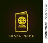 passport golden metallic logo | Shutterstock .eps vector #703070212