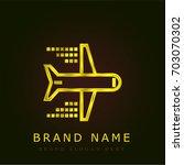 flight golden metallic logo