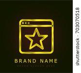 browser golden metallic logo | Shutterstock .eps vector #703070518
