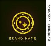 porthole golden metallic logo