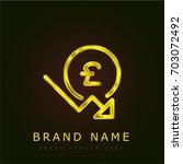 pound sterling golden metallic...