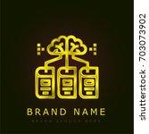 learning golden metallic logo