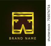 shorts golden metallic logo