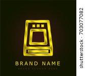 hard disc golden metallic logo