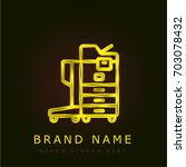 printer golden metallic logo
