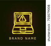 laptop golden metallic logo