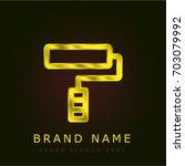 paint roll golden metallic logo