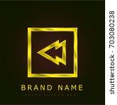 rewind golden metallic logo