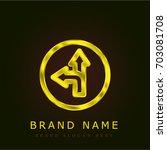 direction golden metallic logo