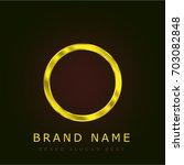 empty golden metallic logo