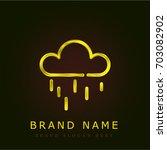 rain golden metallic logo
