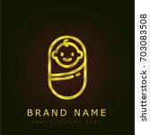 baby boy golden metallic logo