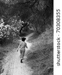 seven year old boy walking... | Shutterstock . vector #70308355