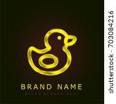 duck golden metallic logo