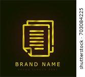 paper golden metallic logo