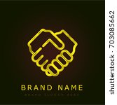 cooperate golden metallic logo