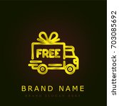 free delivery golden metallic...