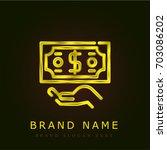refund golden metallic logo