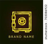 strongbox golden metallic logo