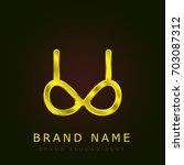brassiere golden metallic logo