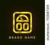 scale golden metallic logo