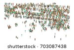 various shaped crowd of people. ... | Shutterstock . vector #703087438