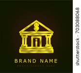 bank golden metallic logo