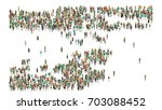 various shaped crowd of people. ... | Shutterstock . vector #703088452
