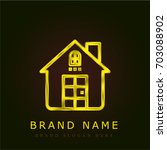 house golden metallic logo