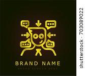 avatar golden metallic logo   Shutterstock .eps vector #703089022