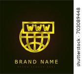 domain golden metallic logo