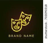 theater golden metallic logo