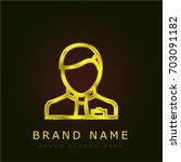 manager golden metallic logo