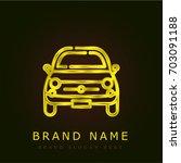 car golden metallic logo