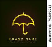 umbrella golden metallic logo
