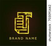 text golden metallic logo