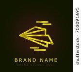 paper plane golden metallic logo