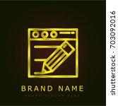 content golden metallic logo