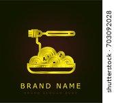 spaghetti golden metallic logo