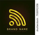 rss golden metallic logo