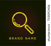 loupe golden metallic logo