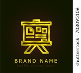 panel golden metallic logo