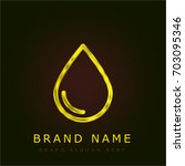 drop golden metallic logo