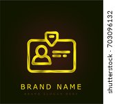id card golden metallic logo