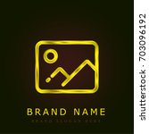 picture golden metallic logo